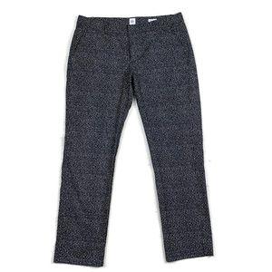 Gap Slim Crop Pants 14 Tall Geometric Print